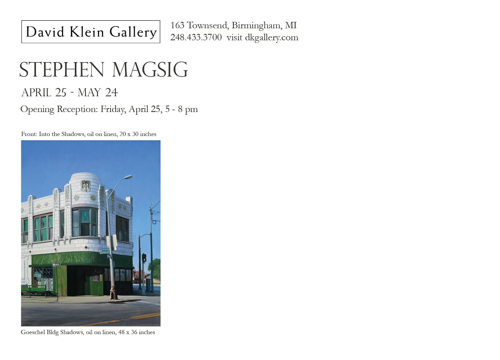 STEPHEN MAGSIG at David Klein Gallery