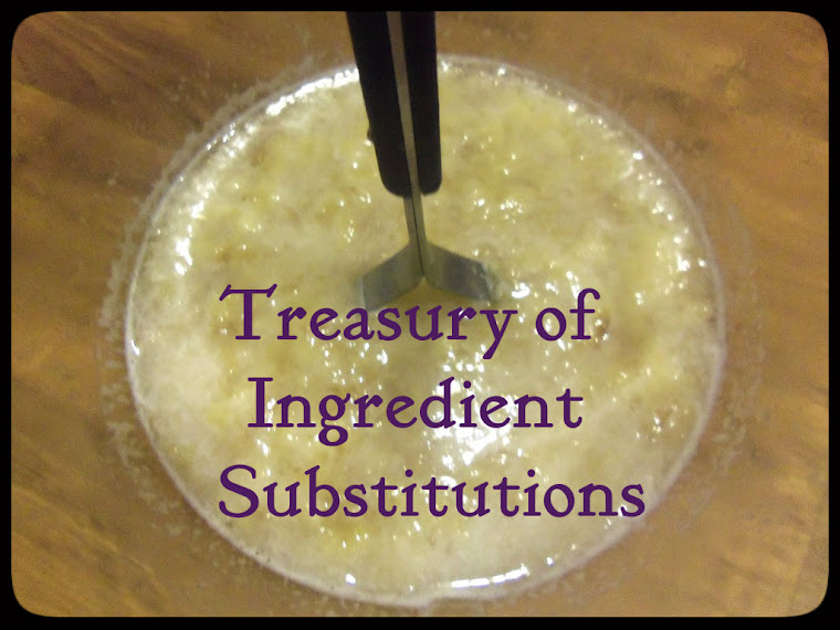 Treasury Of Ingredient Substitutions