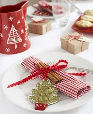 Ideas para poner una mesa navide a - Vajillas navidenas ...