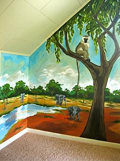 South Africa Nursery Mural