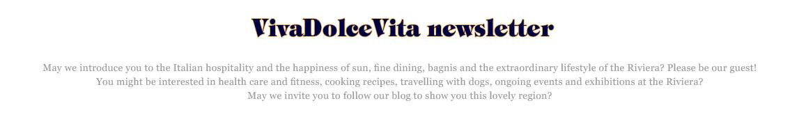 Vivadolcevita newsletter