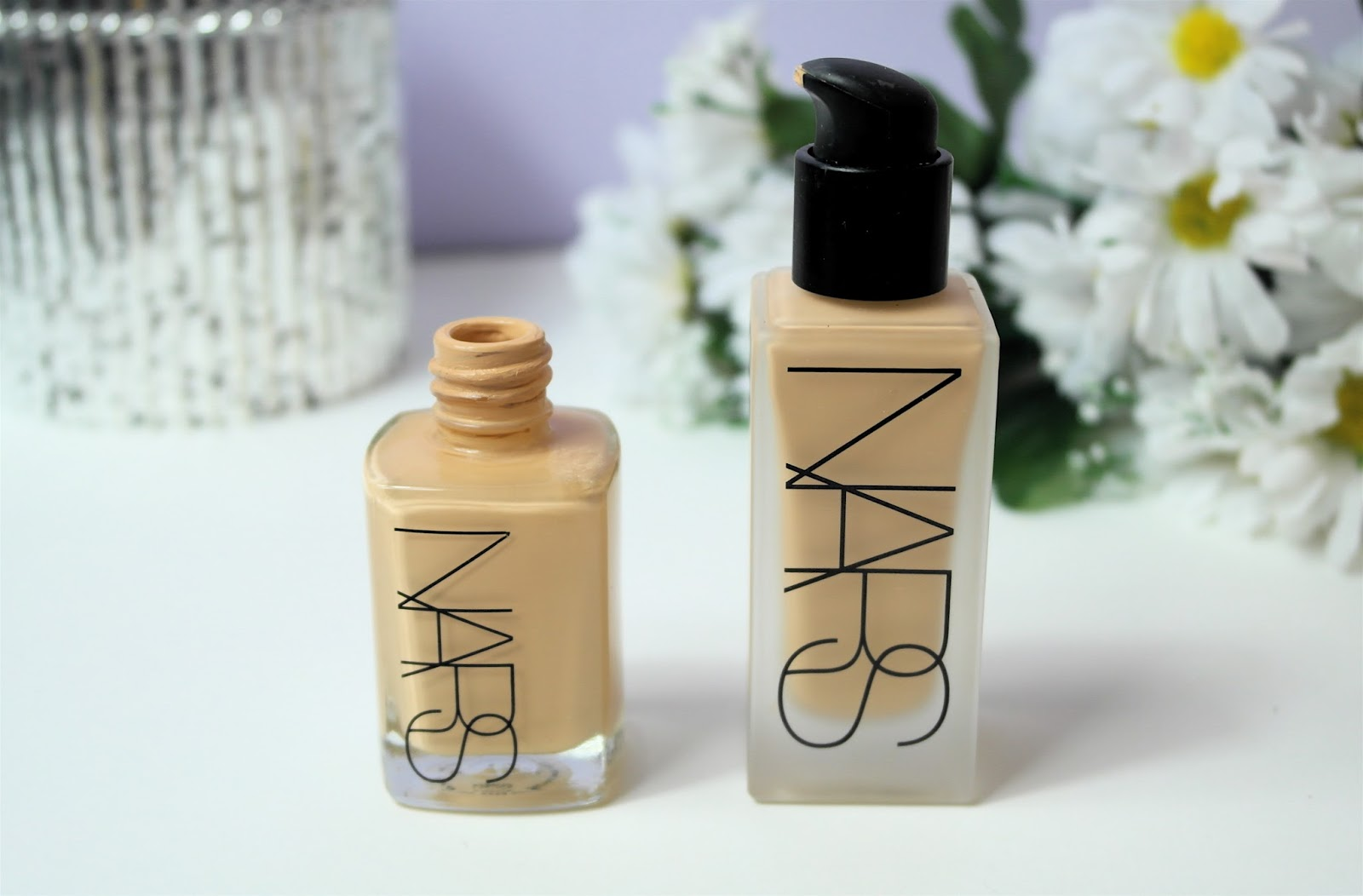 Nars all day luminous weightless and sheer glow comparison