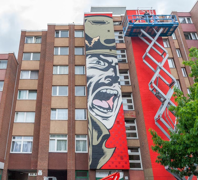 DFace has landed in Berlin, Germany for a brand new Street Art project with the good lads form Urban Nation.