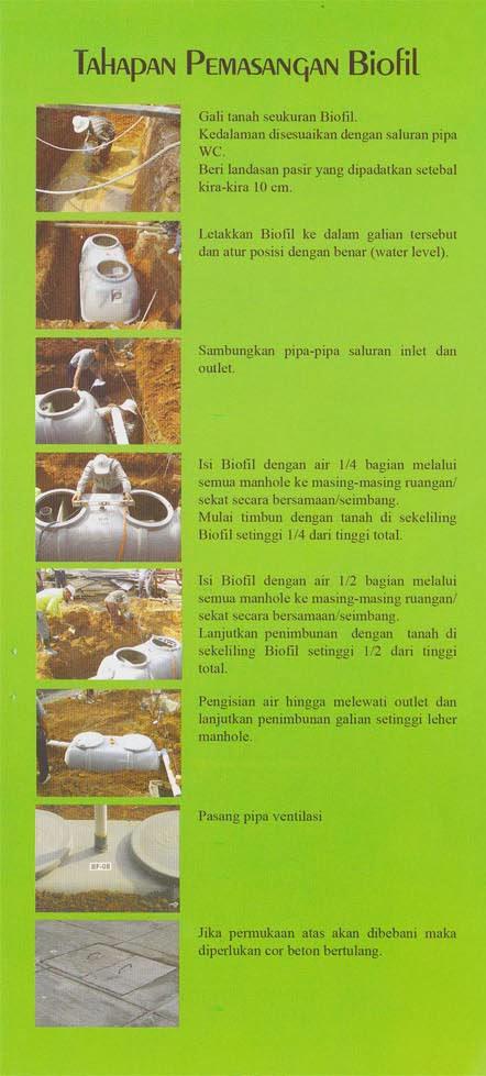cara pasang septic tank biofil, produk septic tank biofil, stp biofil, ipal biofil, price list, daftar harga, biogift, biohitech, biotech