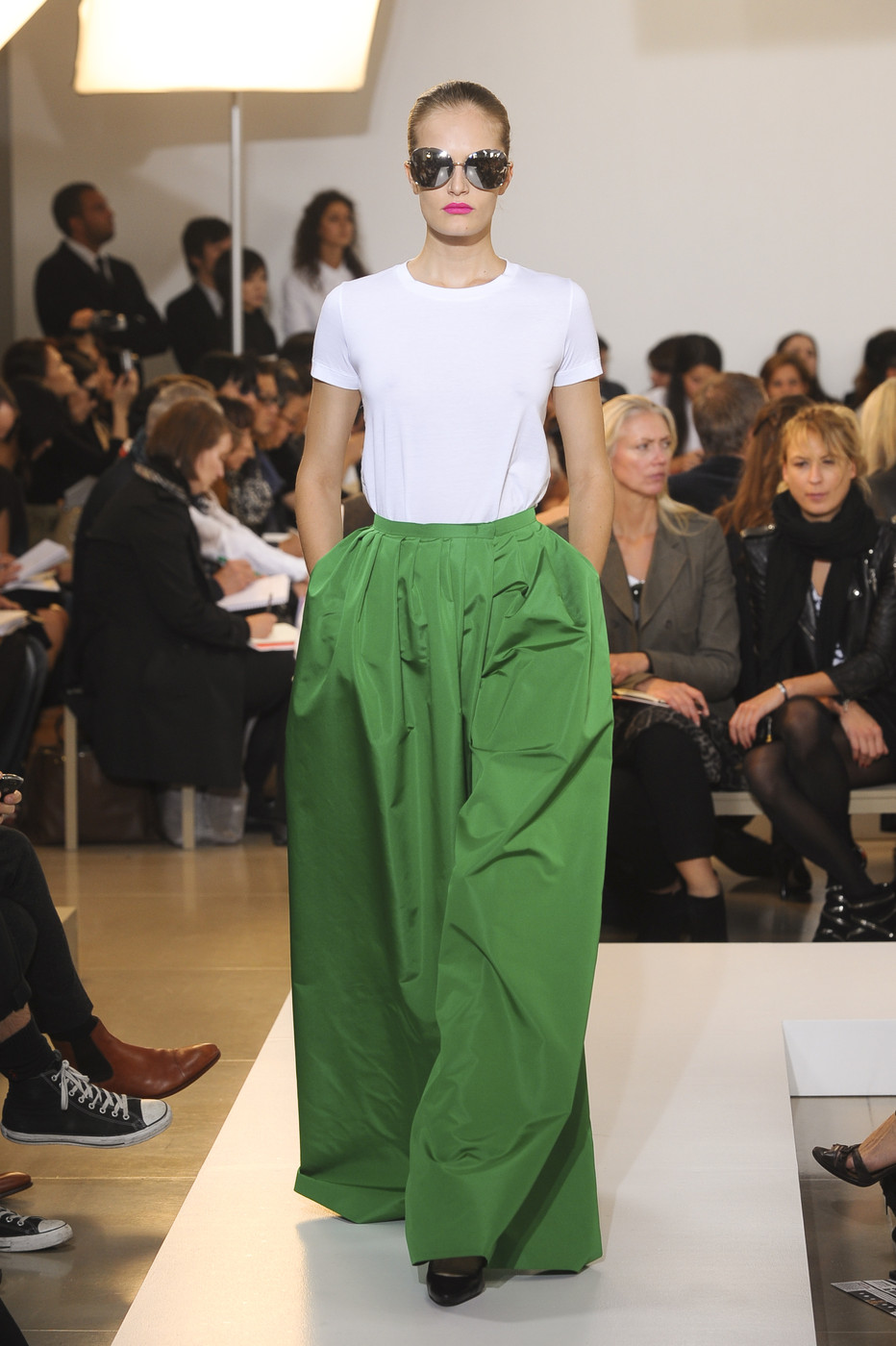 via fashioned by love | Jil Sander Spring/Summer 2011 | green