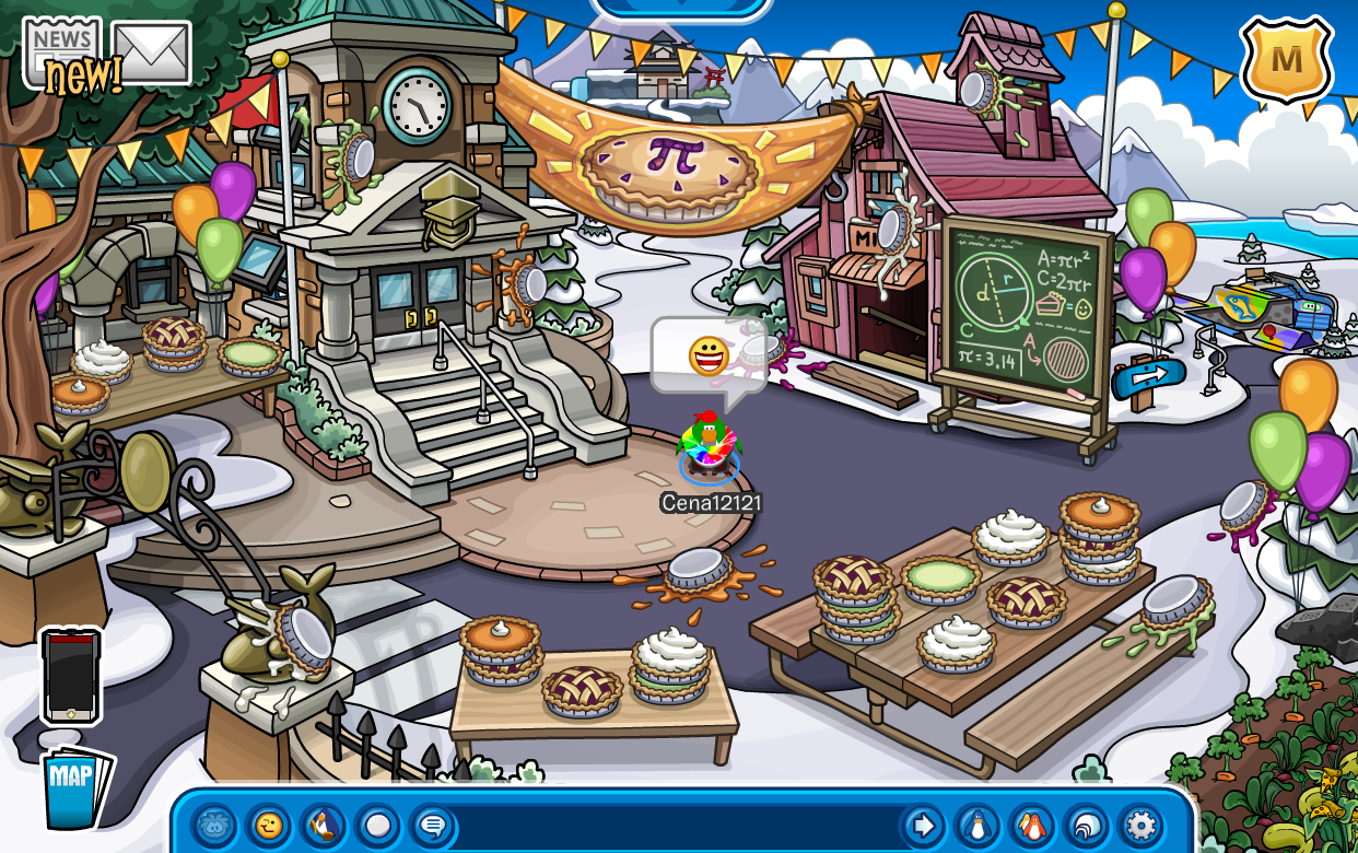 Club Penguin Pi Day Mini-Party
