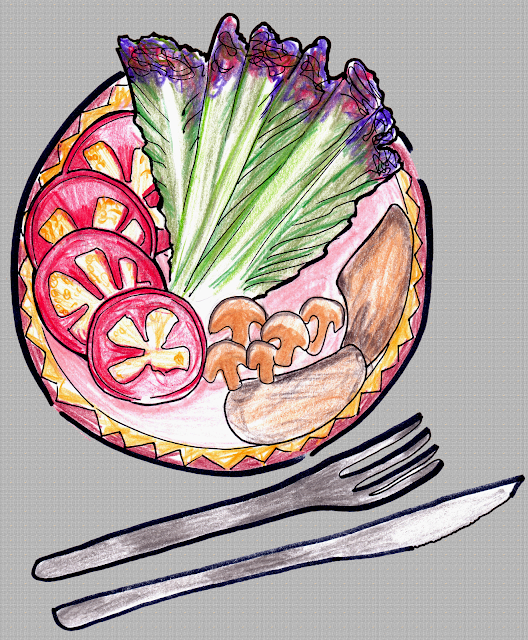 A quick sketch of one of my dishes!