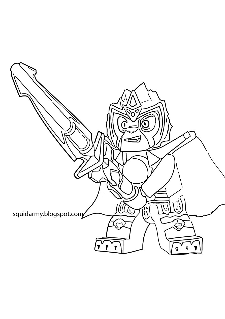 Lego Chima Coloring Pages - Laval the lions