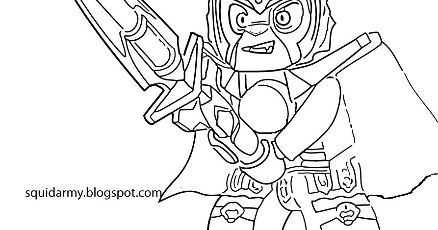 Lego Chima Coloring Pages - Laval the lions - Squid Army