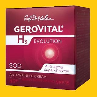 Gerovital H3 Evolution anti-wrinkle cream, anti-aging super-enzyme