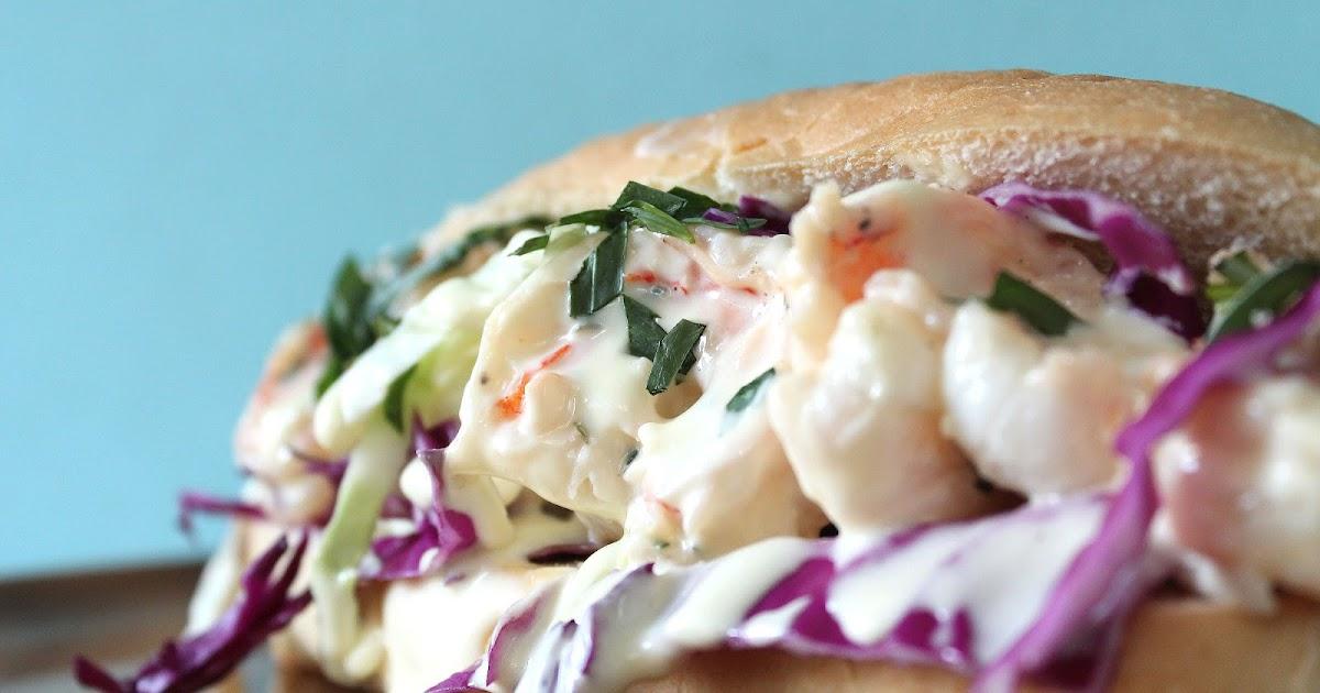 Food Nasty: Jumbo Tarragon Shrimp Roll with an Orange Mayo