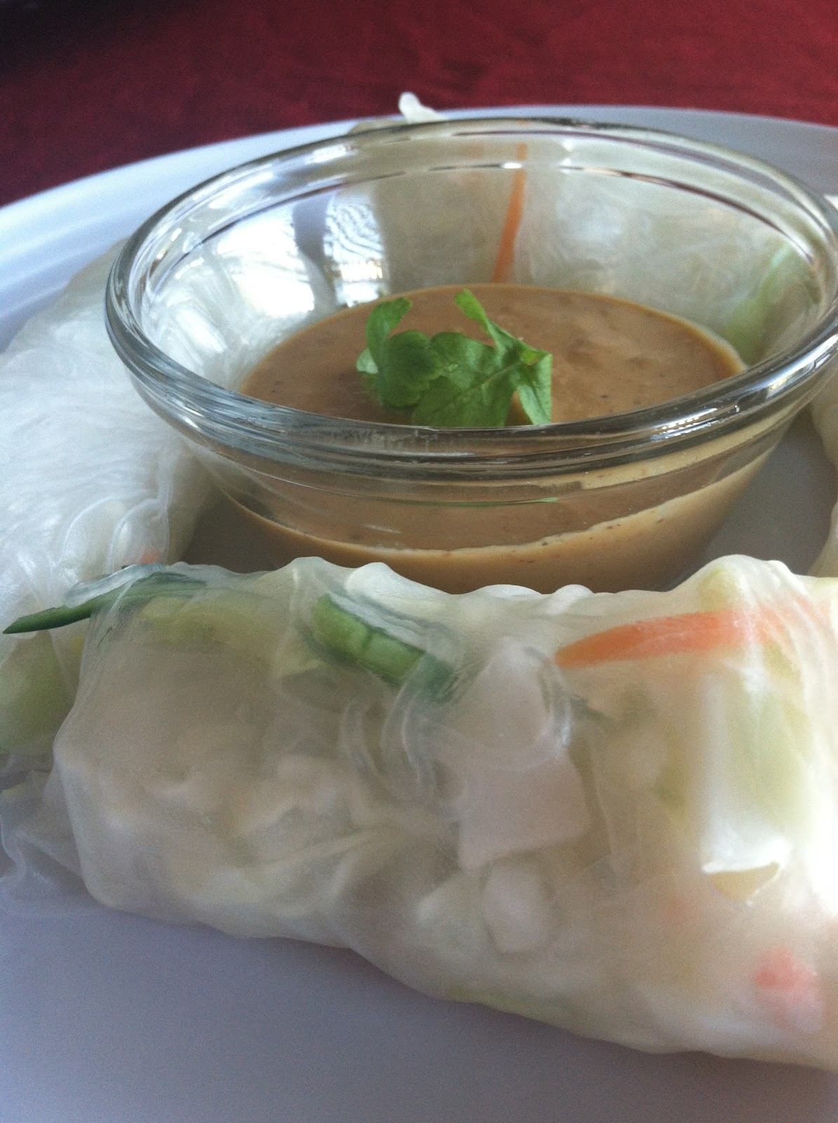 Produce Pantry: Peanut Sauce with Thai Spring Rolls