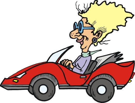 Clipart Car With Woman Driving