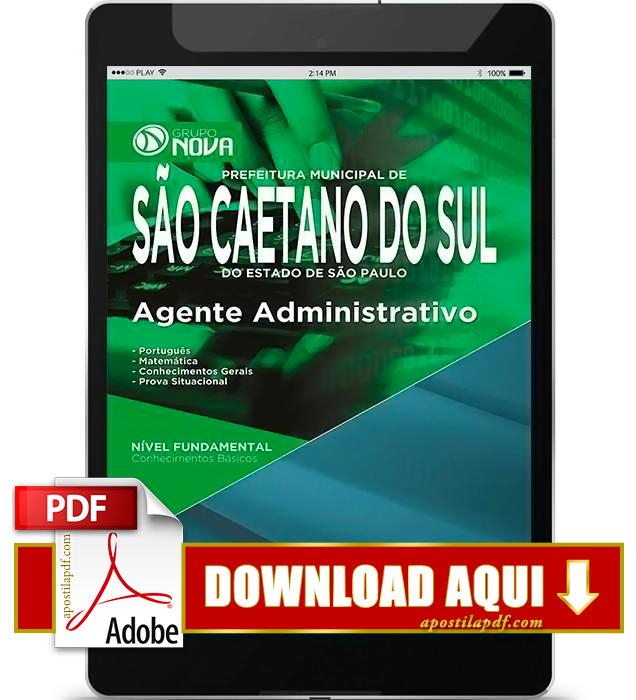 Apostila Prefeitura de São Caetano do Sul 2015 Agente Administrativo PDF Download