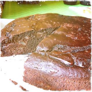 torta al doppio cioccolato e pere vegana