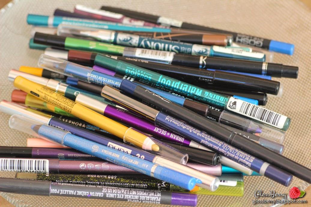 """עפרונות עיניים מומלצים צבעוניים ג'ייד בורז'ואה מחו""""ל gade bourjois mufe holika la girl tarina tarantino urban decay mac gosh"""