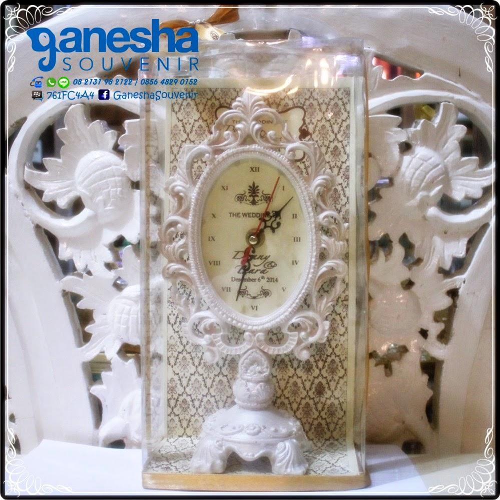 ganesha souvenir pernikahan fiber jam oval