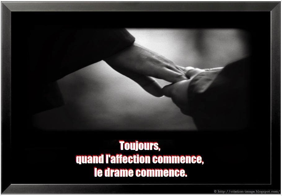 Jolie citation affection sur une belle image