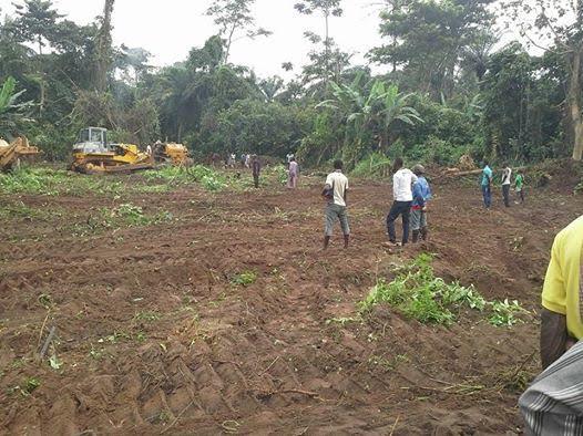 Ekiti state clear land for Airport in Aso Ayegunle Village of Ado Ekiti.