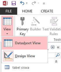membuat database dengan access 2013