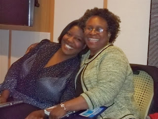 Picture of Keshia Thomas with Karen Simpson. Photo taken by Karen Simpson