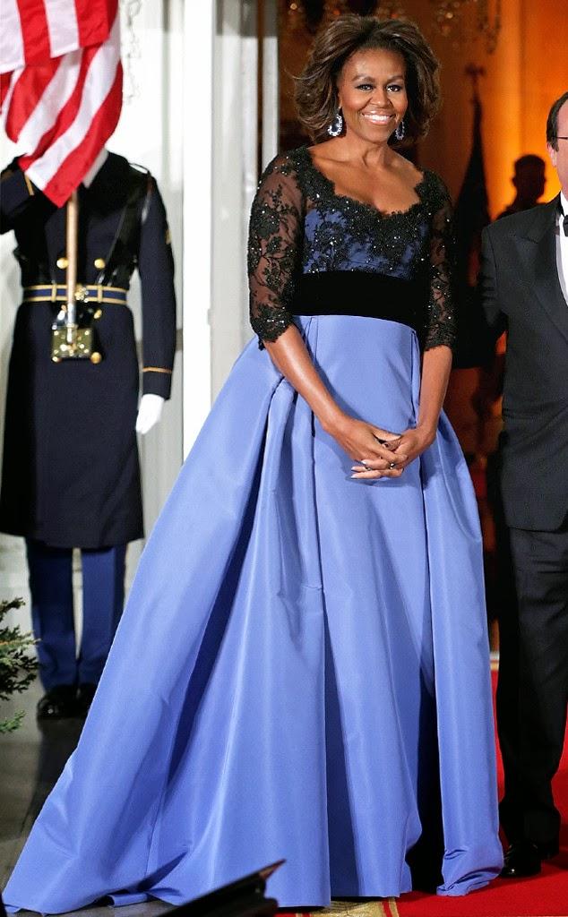 Michelle Obama Liberty Blue Dress