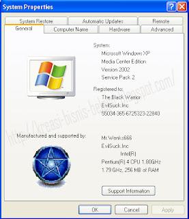 Menampilkan Logo Menarik Di Properties Windows