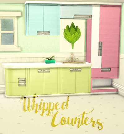 My sims 4 blog spa day kitchen cabinet recolors by for Cc kitchen cabinets
