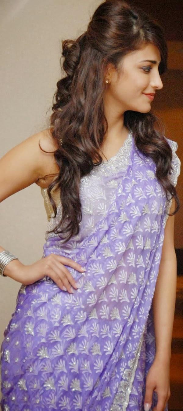 shruti hassan hot pics in saree