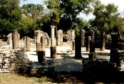 Remains of early Byzantine baptistery, Butrint. Albania  [Credit: Wiki Commons]