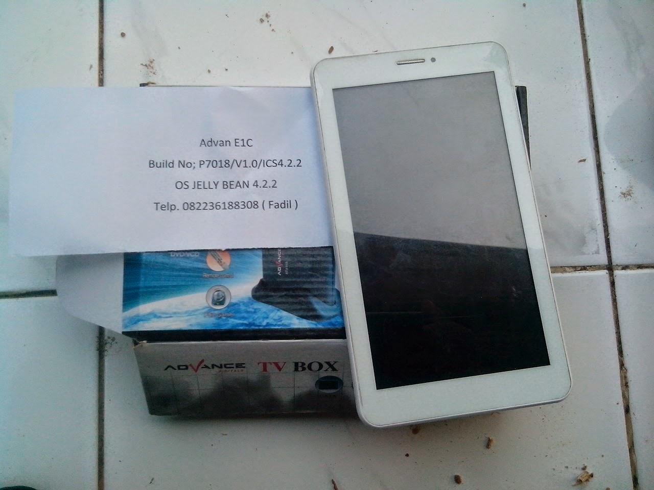 Untuk bisa menghidupakan kembali tablet Advan Vandroid E1C berikut ...