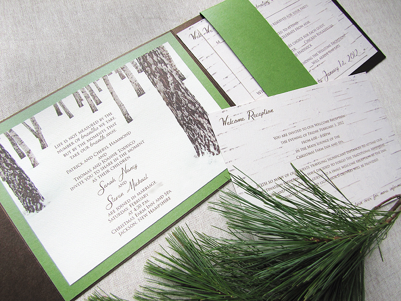 Custom Birch Tree Wedding Invitations 20120304T1235504110500