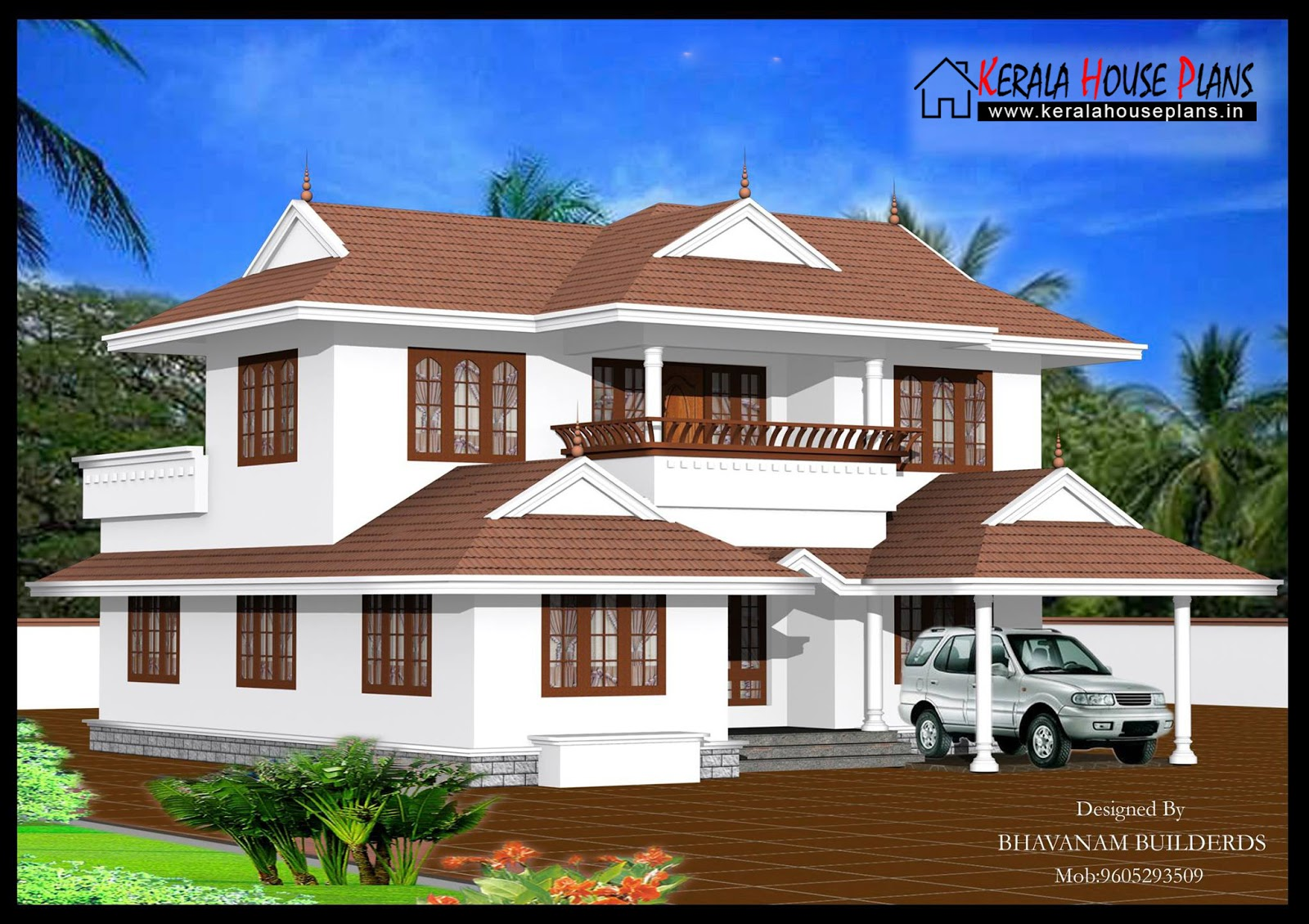 2000 sqft traditional kerala house design kerala house for Kerala traditional home plans