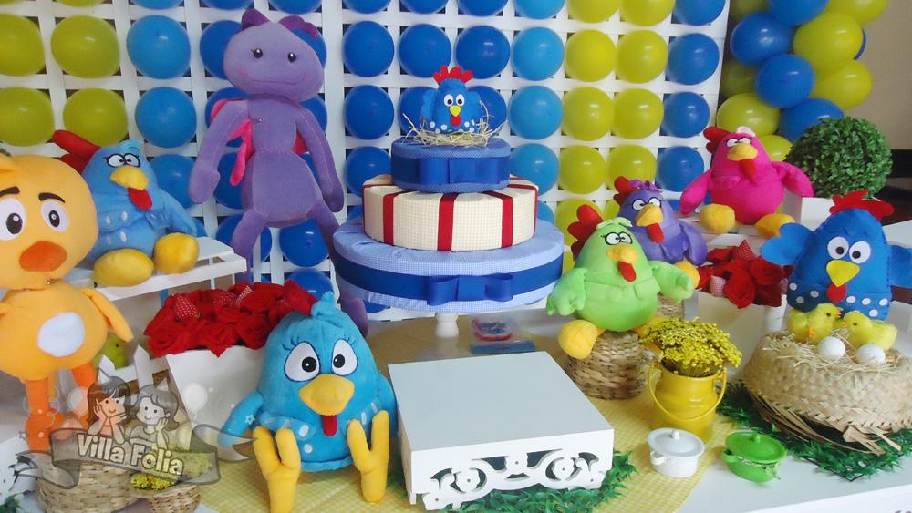 decoracao galinha pintadinha azul e amarelo: galinha pintadinha, decoração provençal,Londrina e região, villa