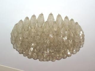 lampadari per stanzette : Lampadario anni 60 VENINI in vetro di murano I POLIEDRI DI CARLO ...