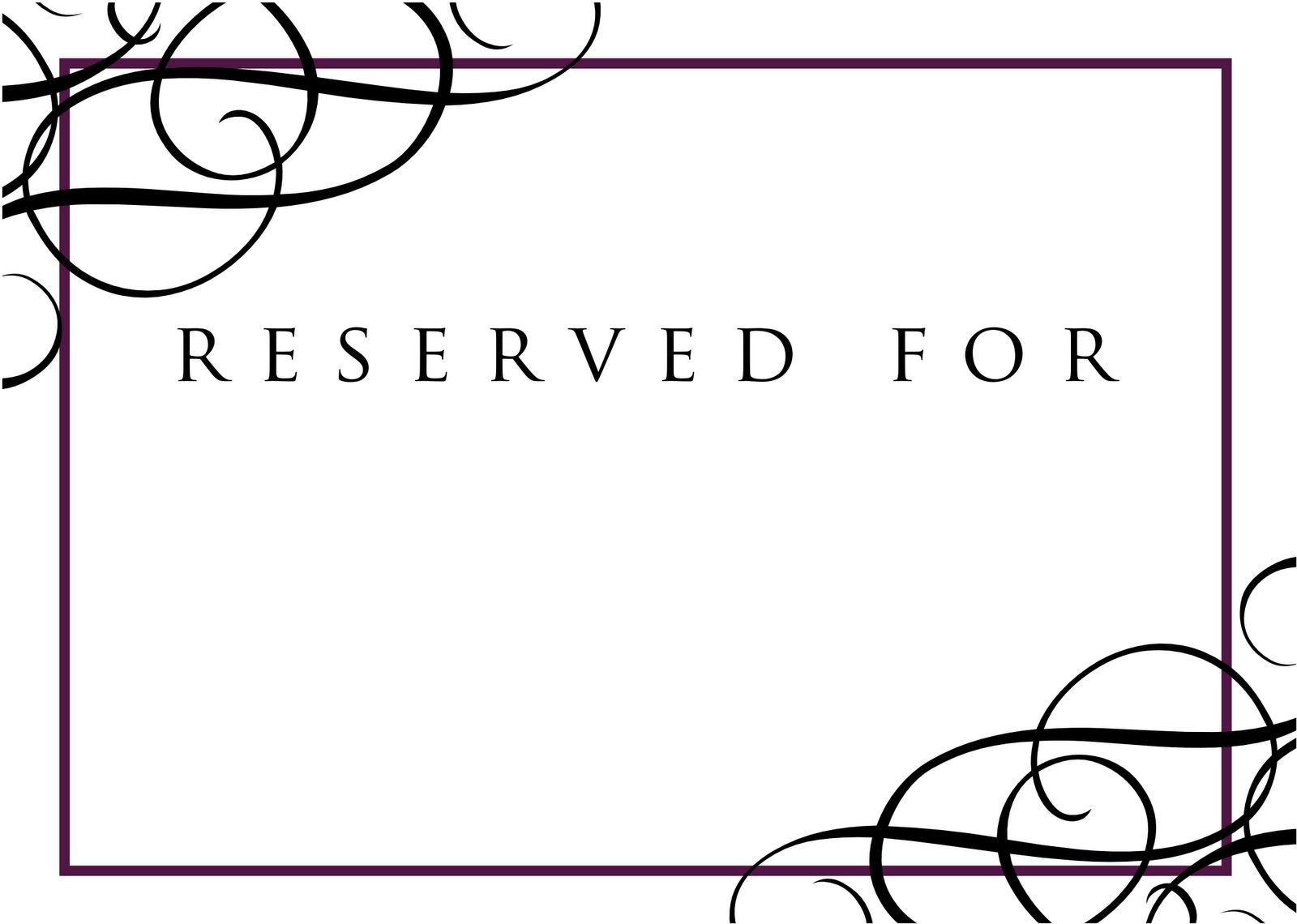 Free reserved table sign template car interior design for Reserved seating signs template