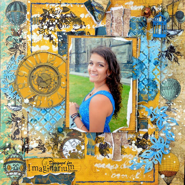 Scrapbook page by agnieszka bellaidea chipboards imaginarium designs bobunny papers