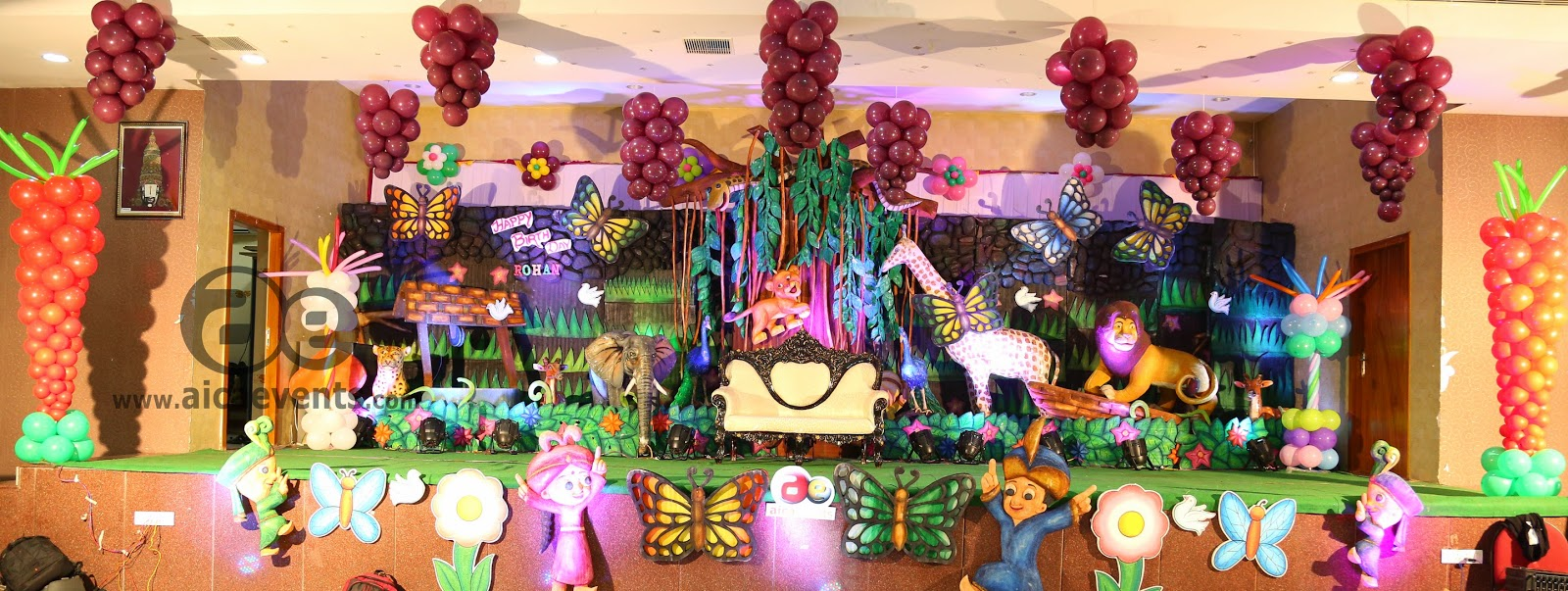 aicaevents: Jungle Theme Birthday party Decorations