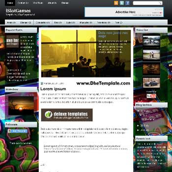 iSlotGames blogger template. magazine style template blogger. featured content blogger template. games template blogger