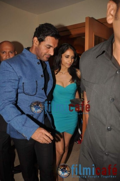 John Abraham Fiance1 - John Abraham with fiance at Marathon Pre-Party