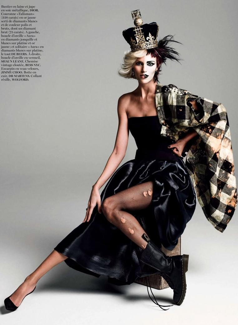 Jubeldotkcom Punk Queen On Vogue Paris