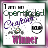 WINNER OVER AT OPEN-MINDED CRAFTING