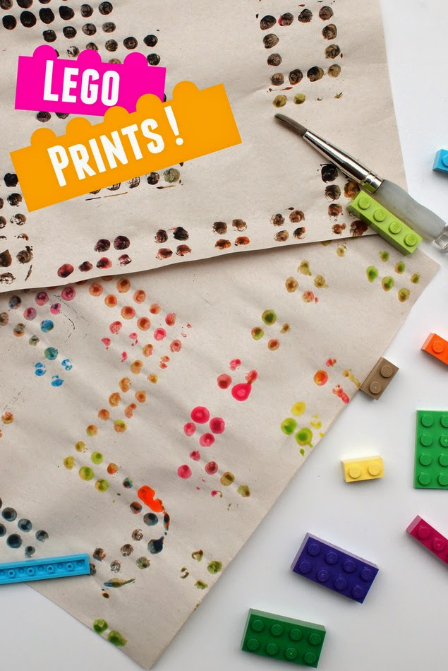 Lego Prints- Super easy and fun way to make art with Lego!  Great kids craft!