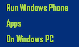 can i run windows phone apps on pc