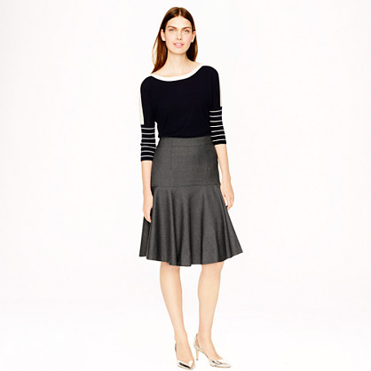 Flare Skirt in Super 120s