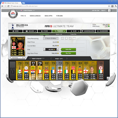 FIFA 13 Ultimate Team Web App - FUT 13