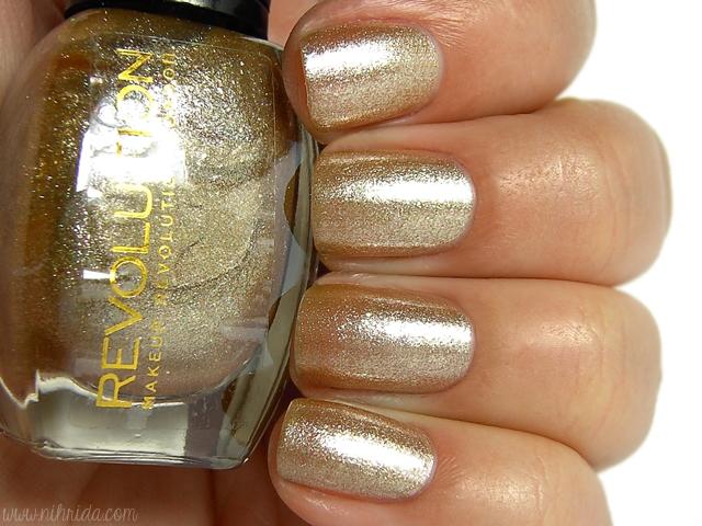 Makeup Revolution Glitter Nail Polish - His Heart is Gold