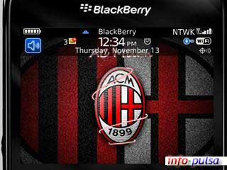 Tema AC Milan untuk BlackBerry Curve 9220 Davis
