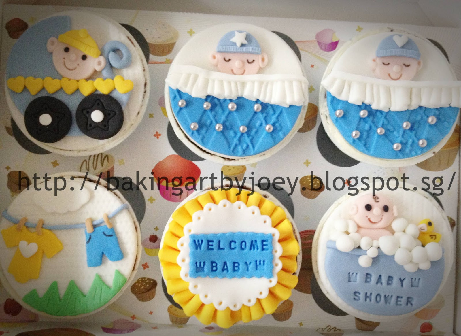 Baby Shower Ideas Cupcake Themed : Baking Art by Joey: Baby Shower Themed Cupcakes