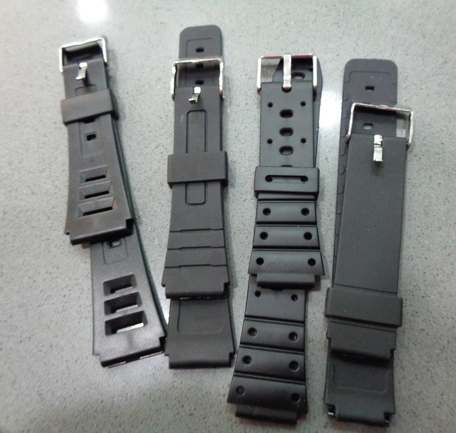 Correas clásicas de goma, para relojes tipo Casio